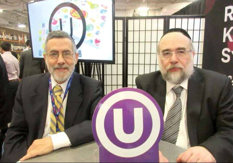 Rabbi Menachem Genack (left) and Rabbi Moshe Elefant of the Orthodox Union (photo credit: HOWARD BLAS)