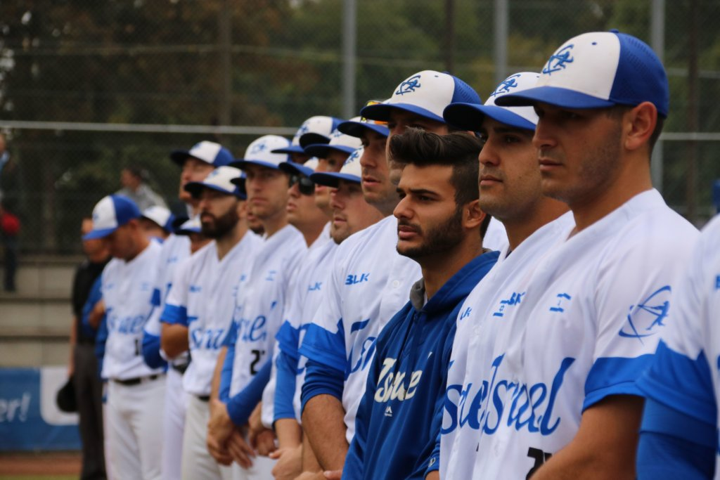 Team Israel, now headed to the 2020 Tokyo Olympics, at the quarter finals. Photo by Margo Sugarman.