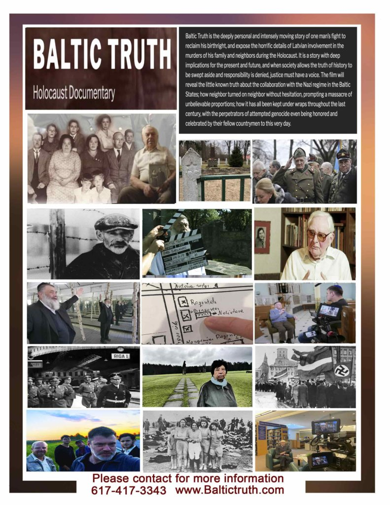 "A montage for ""Baltic Truth"" documentary. Photo by Jeff Hoffman."